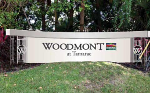 Proposed new entry way signage for Woodmont