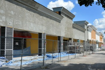The plaza will have a new facade and colors