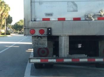Target Truck parked in Tamarac residential neighborhood