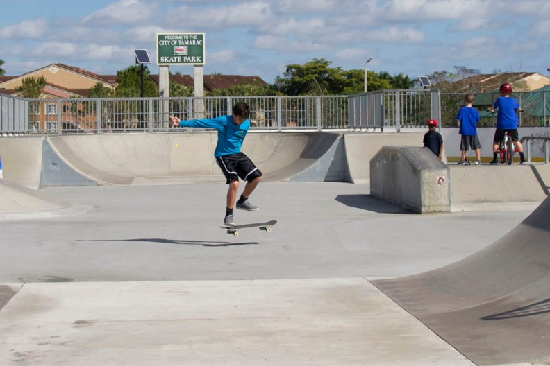 Children enjoying the Tamarac Skate Park which will be moved if a charter school is built