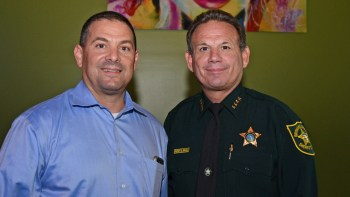 Parkland Mayor Michael Udine and Sheriff Scott Israel.