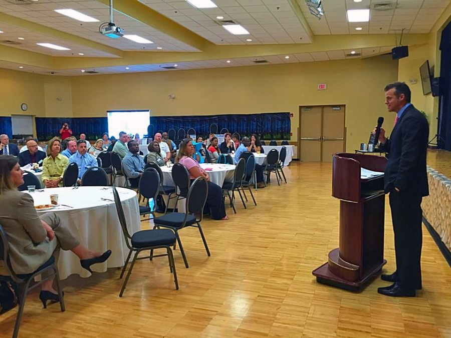 Broward County Vice Mayor Martin Kiar was the featured speaker during the April breakfast.