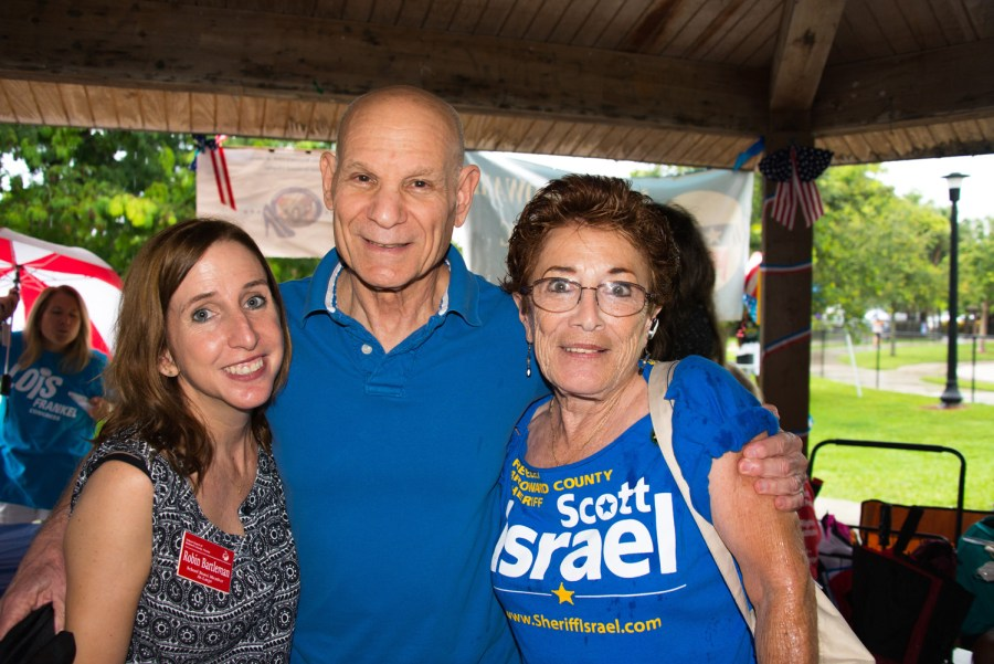 At Large School Board Member Robin Bartleman, State Attorney Mike Satz and Tamarac Resident Patti Lynn.