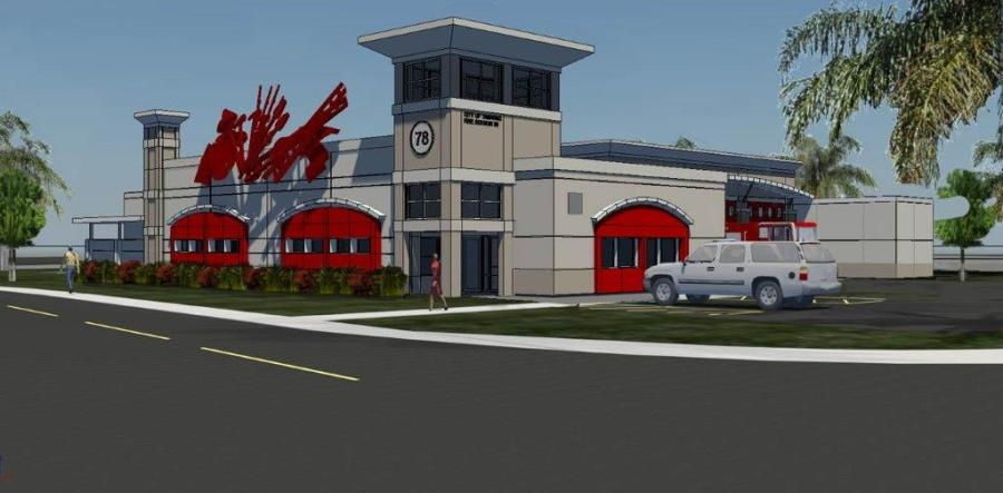 Artist rendering of new Fire Station 78 in Tamarac
