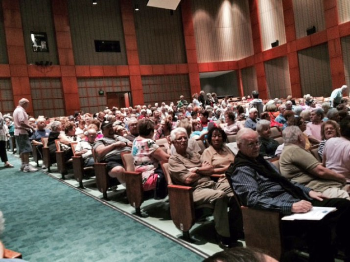 Kings Point residents attend Thursday's meeting to discuss the special variance.