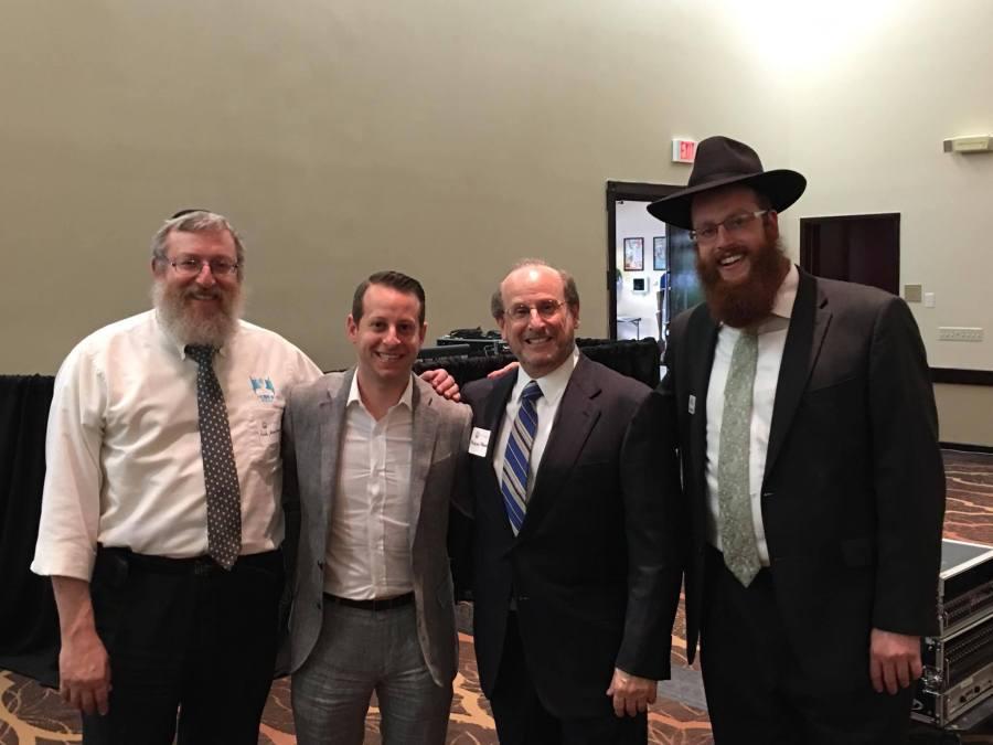 Rabbi Denberg, Jared Moskowitz, Mike Moskowitz, Rabbi Denberg