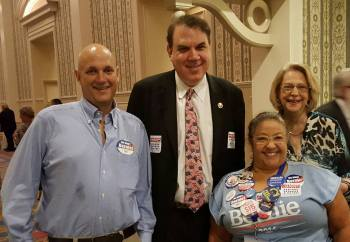 Ilene Singer (top right) with Congressman Alan Grayson who is running for US Senate.