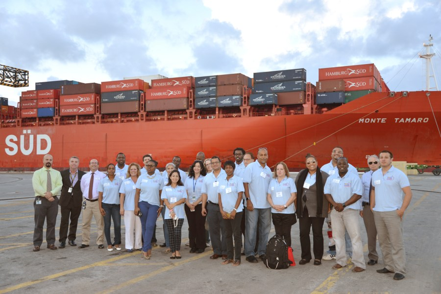 Last year's class at Broward County Academy touring Port Everglades