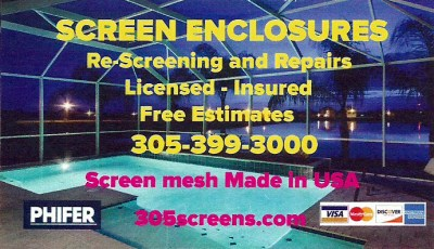 Screen Enclosures & Repair