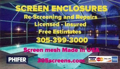 Screen Enclosures & Repair