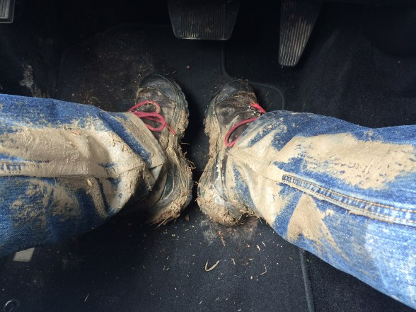 muddy boots and legs