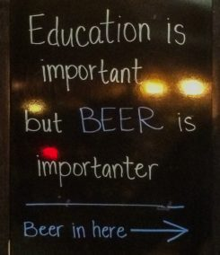 Beer is importanter