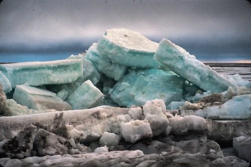 Cooper Island ice throw