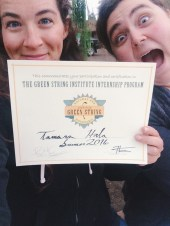 Officially a Green String graduate! With Leslie :)
