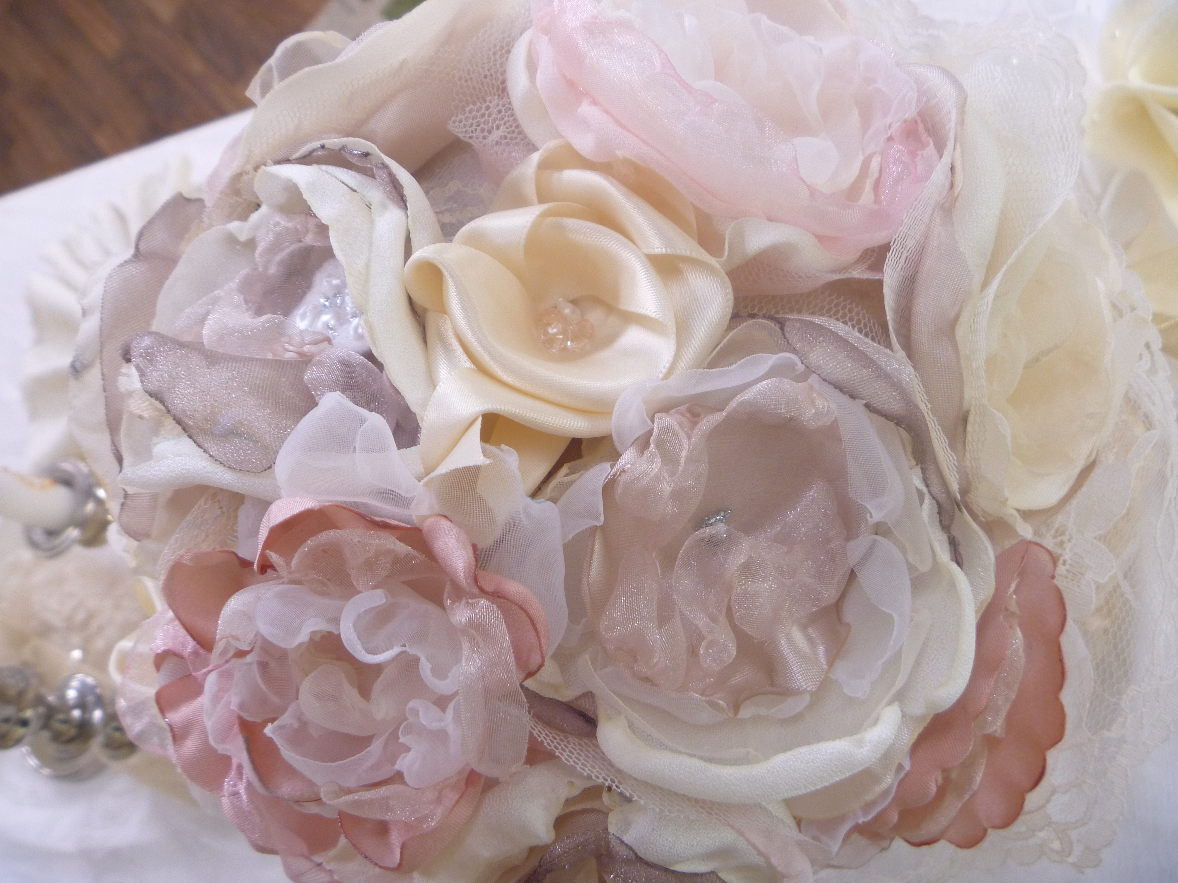 Fabric Flowers, Paint Pearls, Mirror Paint