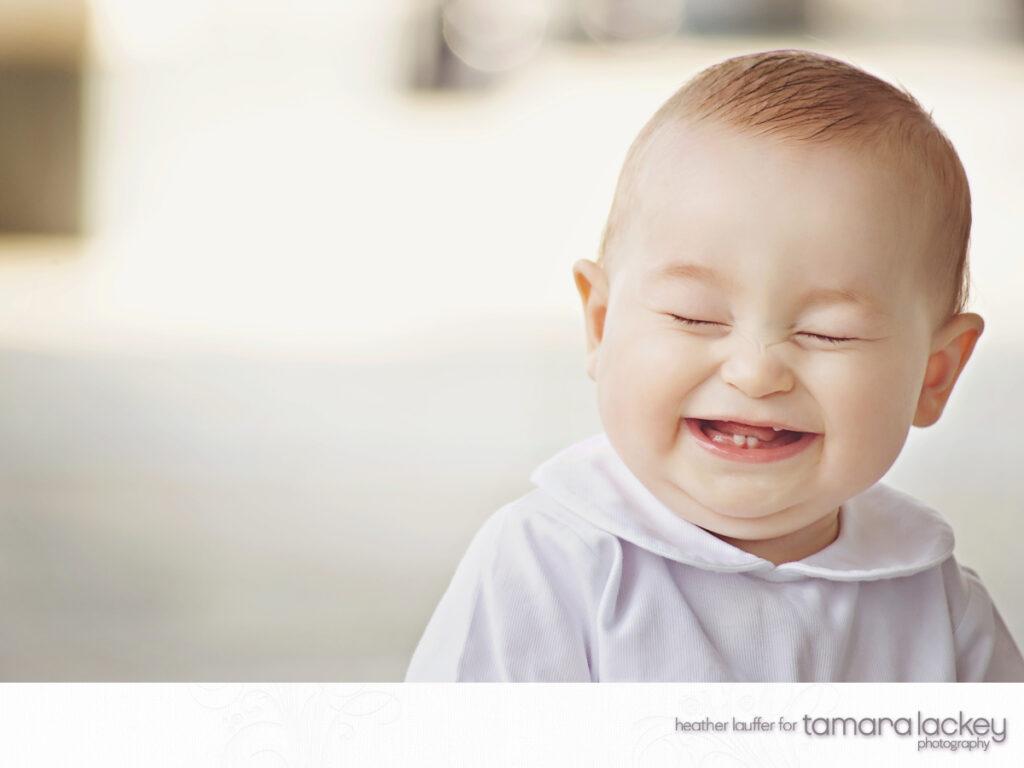 baby laughs - tamara lackey photography