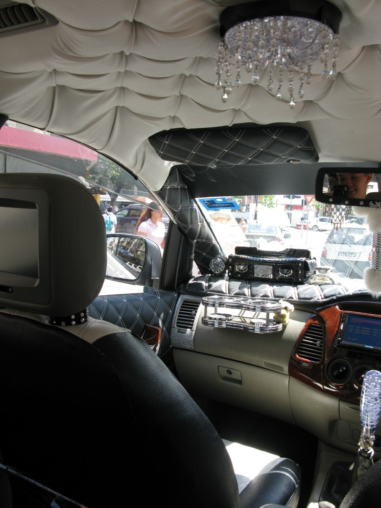 The most 'bling'ed out taxi I've ever had the pleasure of riding in