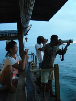 Everyone lined up to shoot the sunset