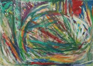 World. oil on canvas. 70X50 cm