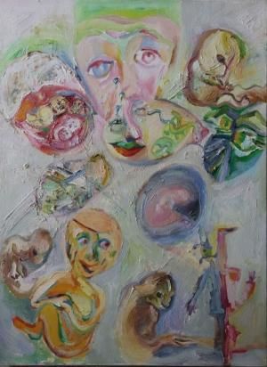 Birth. oil on canvas.60X80 cm