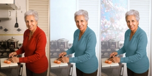 senior-woman-cooking figure additions in Photoshop