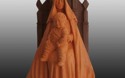 A Virgem no trono