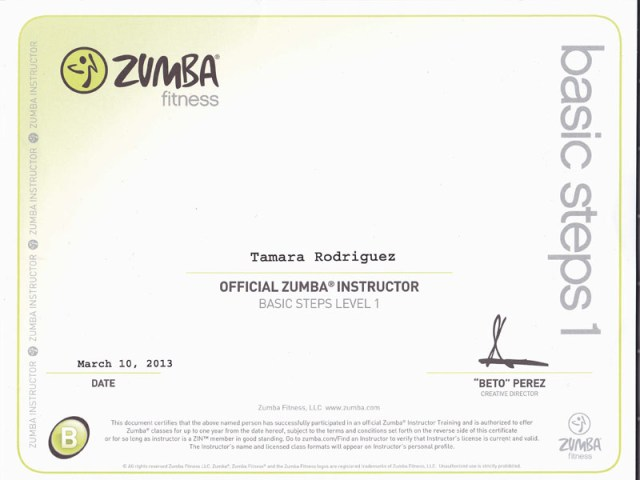 Tamara_Zumba-Instructor-Certificate