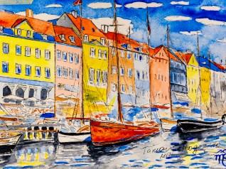 Copenhagen 1, watercolor, 2017