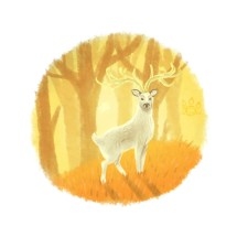 Deer of autumn light