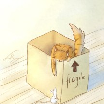 Moving cat box_copyright