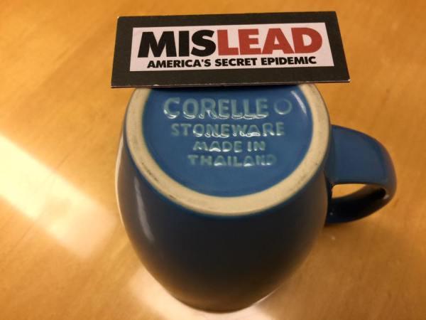 "c. 2010, Darker Blue ""Made in Thailand"" Corelle Mug: 1,585 ppm Lead + 231 ppm Arsenci."