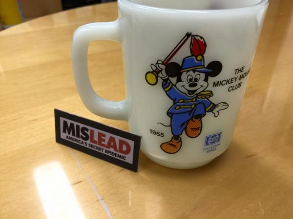 M-I-C-K-E-Y... Mickey Mouse Disney Mug By Anchor Hocking: 75,300 ppm Lead