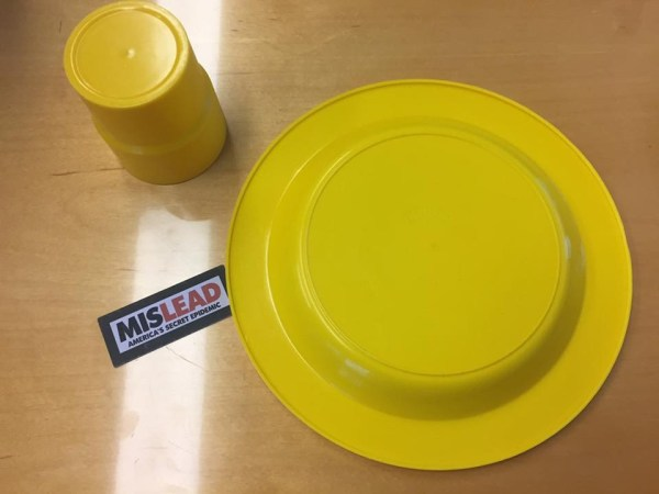"""1970s Yellow Plastic """"Ingrid"""" - Made In Chicago Dishes"""