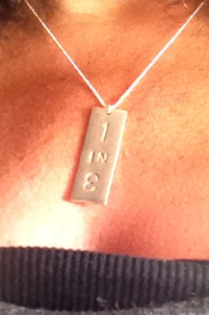 1 in 3 necklace Tamara Rubin Lead Safe Mama Lead Poisoning Prevention