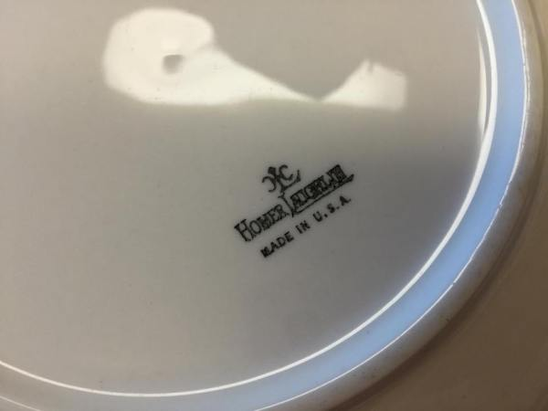 Homer Laughlin White Ceramic Plate: 75,032 ppm Lead.