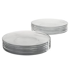 Are there any modern clear glass dishes that are also lead-free?
