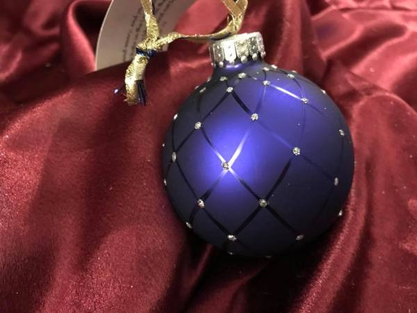 2003 Blue Glass Ball Christmas Ornament: 748 ppm Lead + Arsenic Too