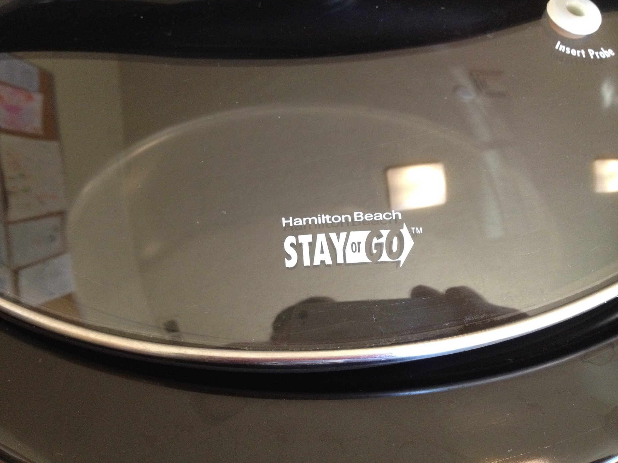 Hamilton Beach Stay-or-Go Crock Pot White Painted Logo On Glass Lid: 9,866 ppm Lead