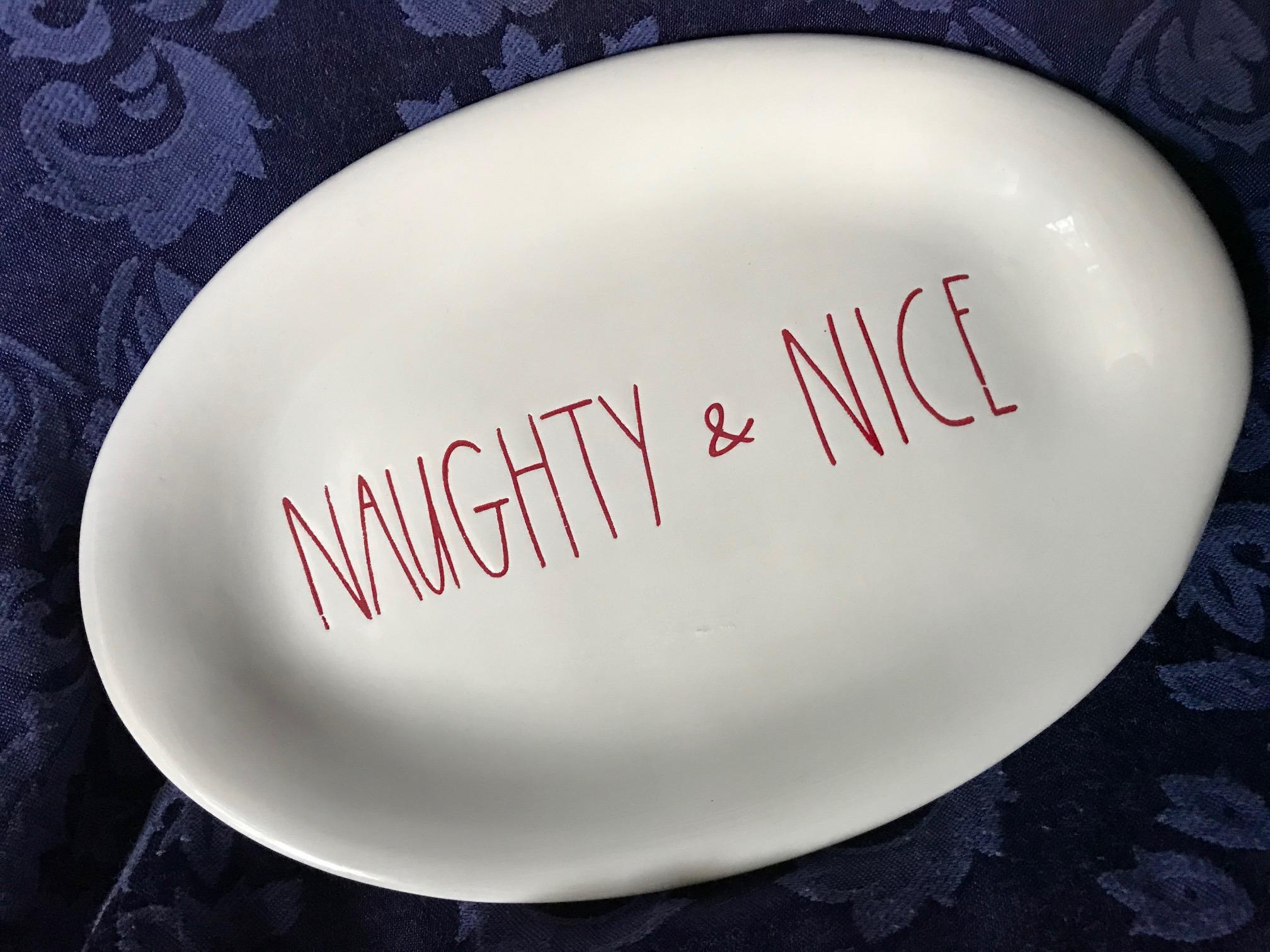 Rae Dunn (By Magenta) Naughty & Nice Christmas Plate
