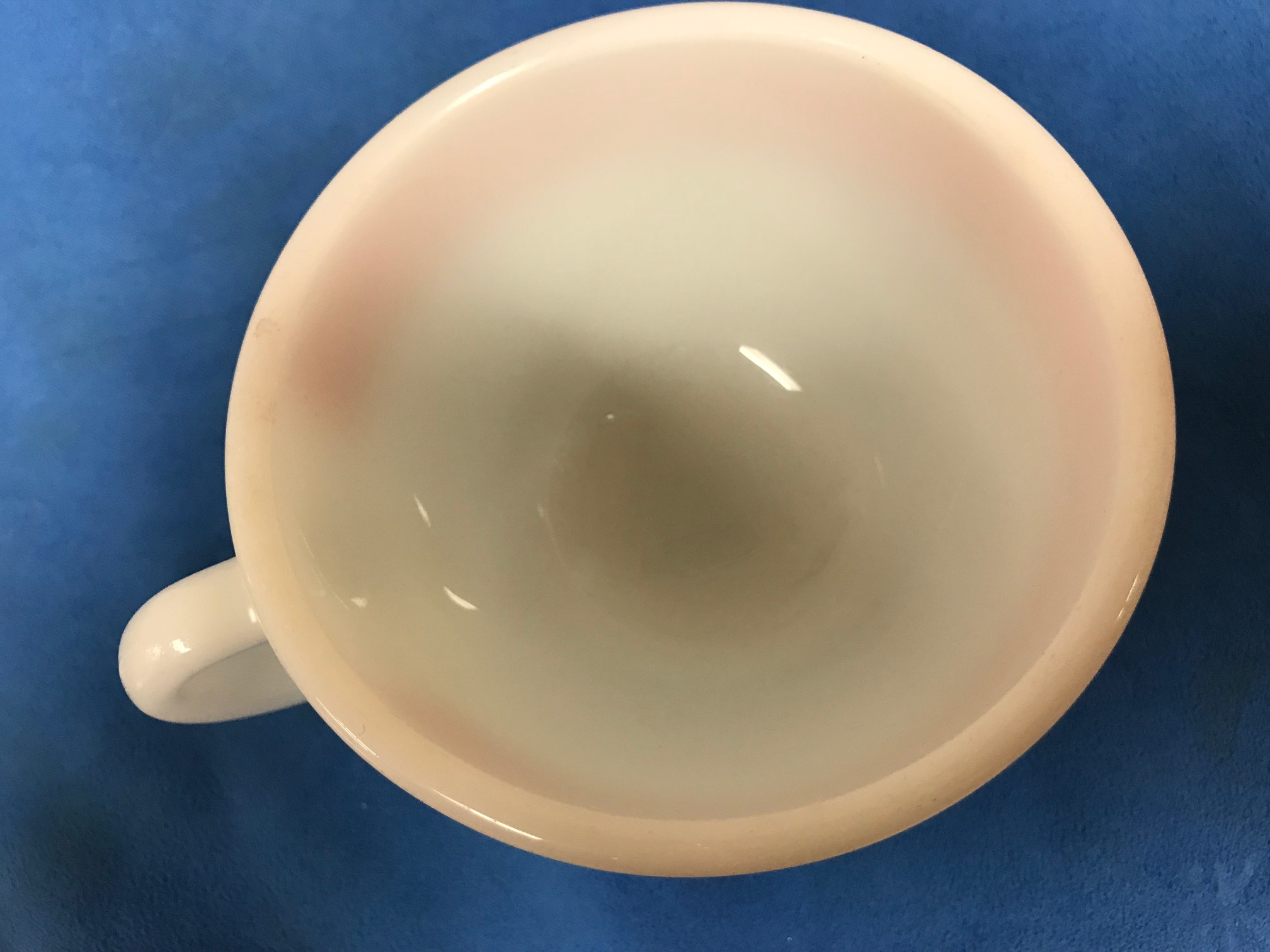 Vintage Pyrex Teacup With Pink Stripe: Positive for 249,700 ppm Lead