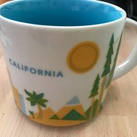 2017 Starbucks You Are Here Collection California Coffee Mug