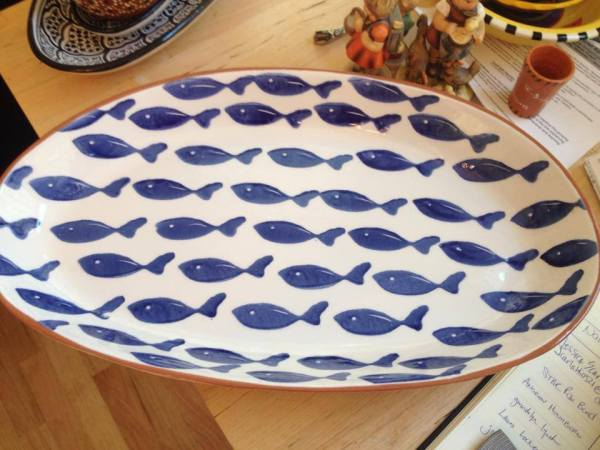 Sur La Table Made In Portugal Ceramic Fish Platter, XRF tested in 2014