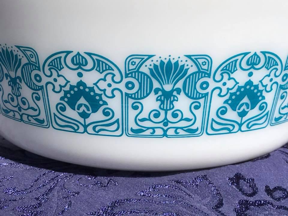 Vintage Horizon Blue Pyrex Casserole. c. 1969-1972 Tamara Rubin Lead Safe Mama