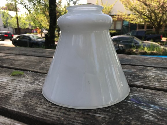 Guess Which of These Four White Glass Lamp Shades Has Lead and How Much!