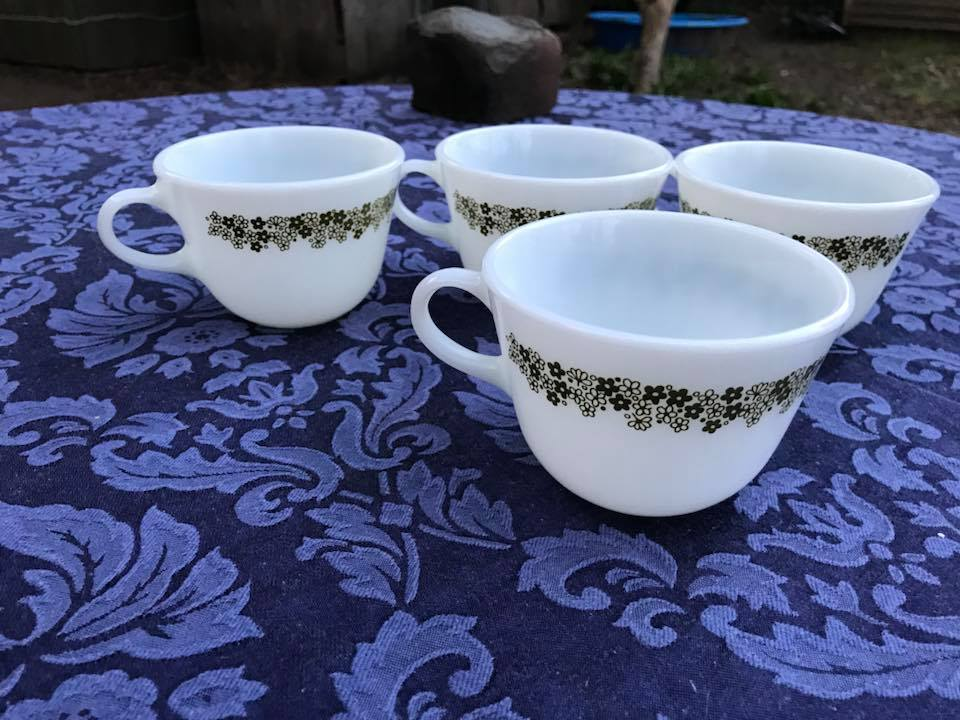 Spring Blossom Vintage Pyrex Cup Mug Tamara Rubin Lead Safe Mam