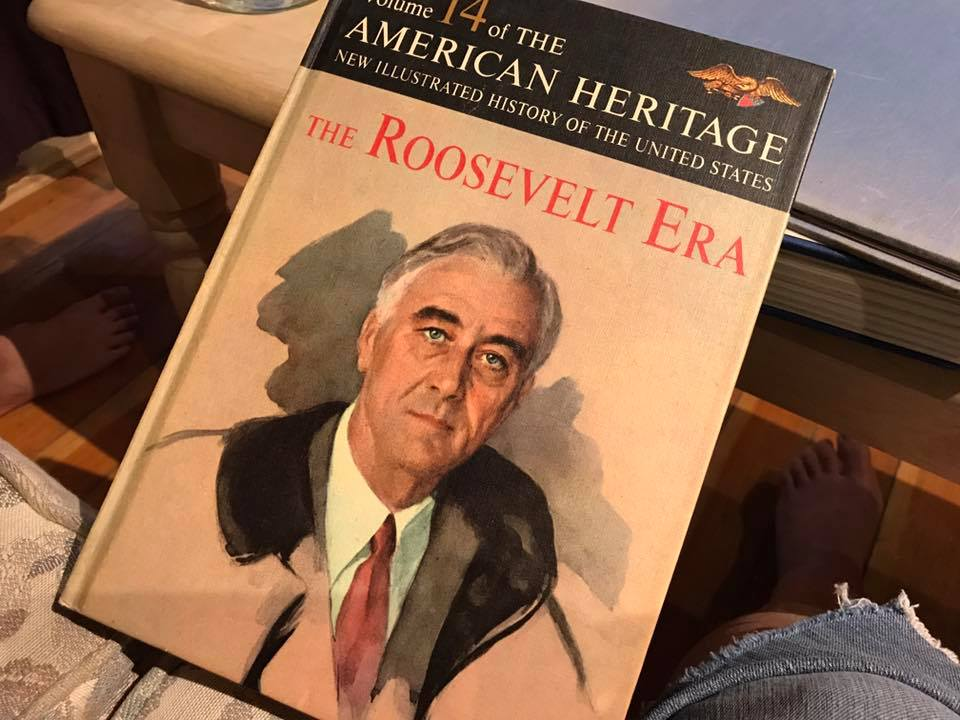 "1963 Hardcover Printing of ""Volume 14 of The American Heritage New Illustrated History Of The United States; The Roosevelt Era"""