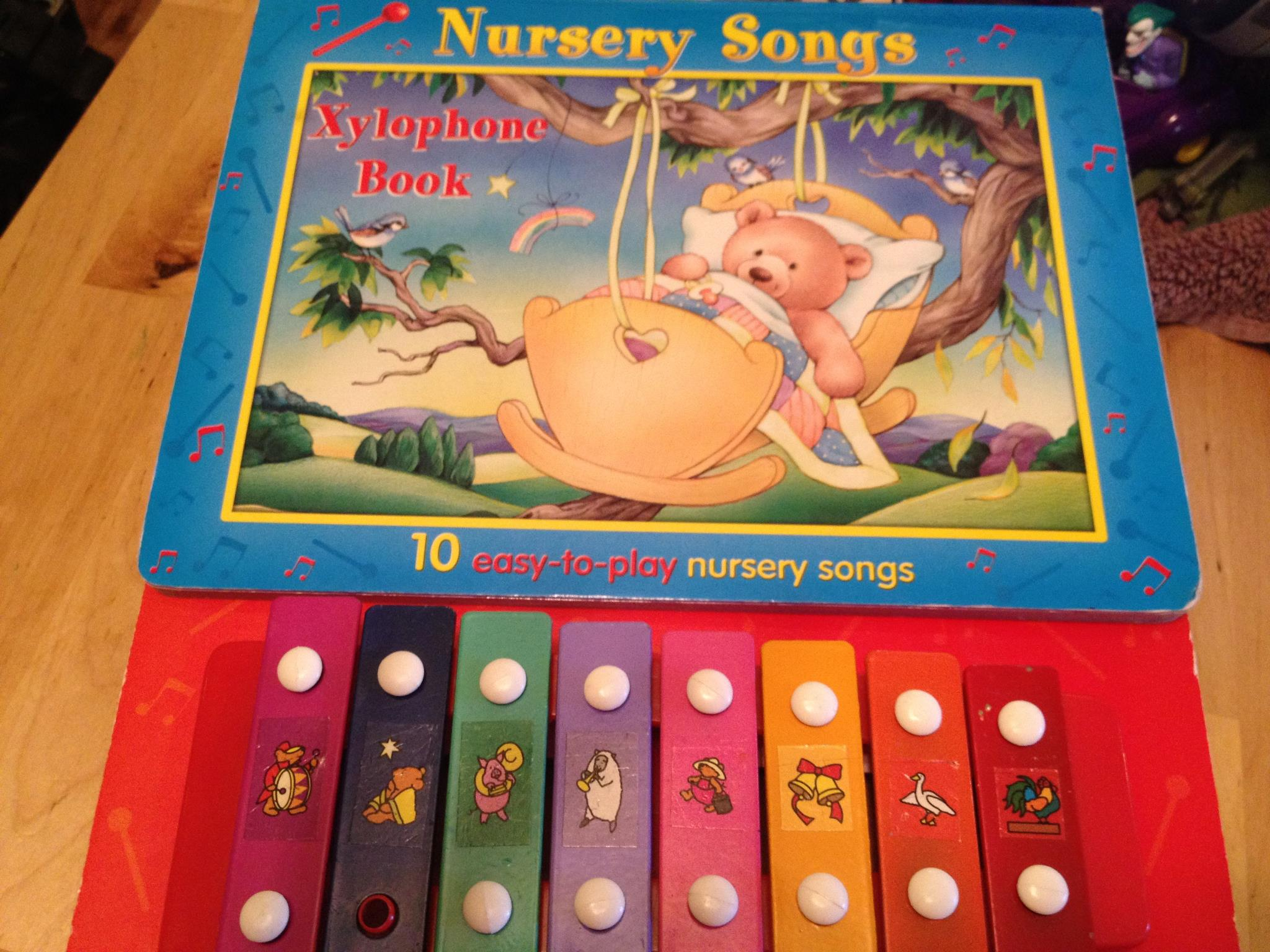 2006 Nursery Songs Book With Built In Xylophone: 62,500 ppm Lead