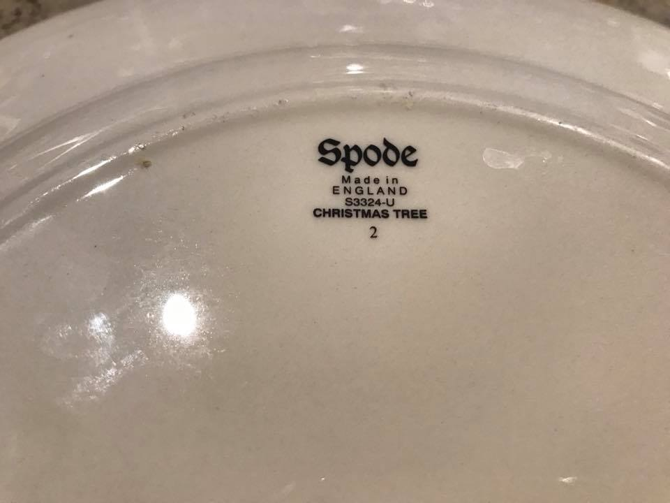 Vintage Spode Christmas Tree Plate Made In England