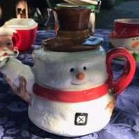 Vintage Ceramic Leaded Snowman Teapot Lead Safe Mama Tamara Rubin 1