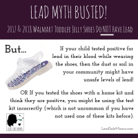 Walmart Jelly Shoes Do Not Have Lead Shareable Graphic Tamara Rubin Lead Safe Mama